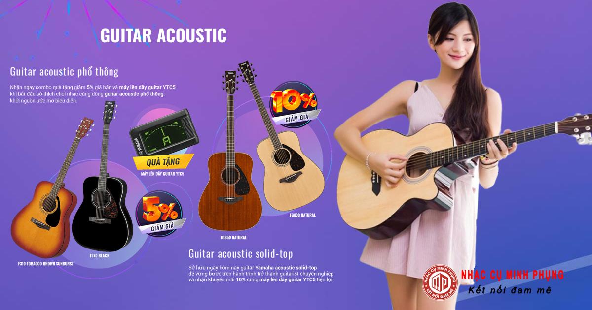 Hướng dẫn chọn mua đàn guitar Yamaha