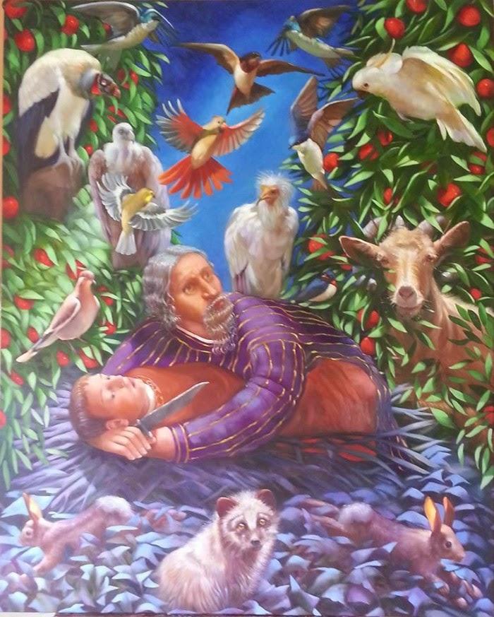 Библейские и аллегорические картины маслом. Rosemarie Adcock