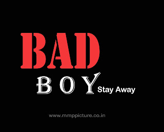 bad boy text png for editing