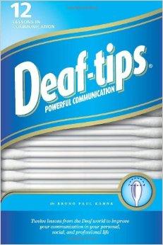 """Portada del libro """"Deaf-Tips"""" de Bruno Kahne"""