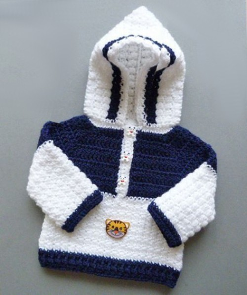 Crochet Hooded Sweater - Free Pattern