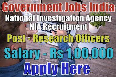 National Investigation Agency NIA Recruitment 2018