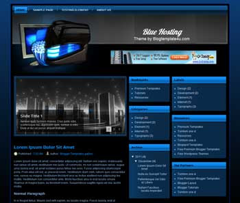 Blue Hosting Blogger Template. free Medical blogger template