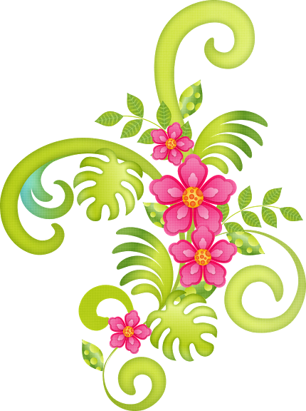 Flowers of the Girls Luau Clipart. | Oh My Fiesta For Ladies! (430 x 576 Pixel)