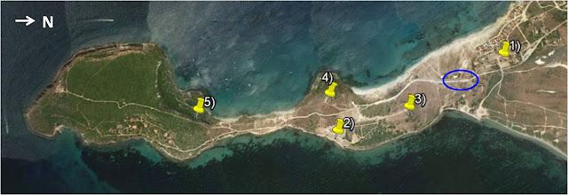 Mapa ruta històrica península del Sinis