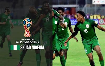Skuad Susunan Pemain Nigeria di Piala Dunia 2018