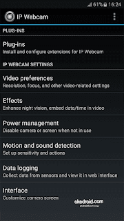 IP Webcam Setting Android