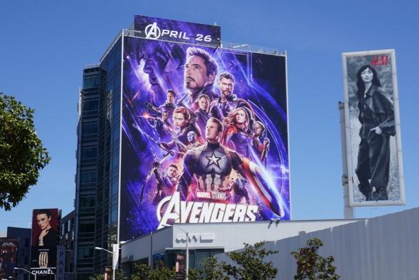 Giant Avengers Endgame movie billboard