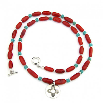 zia sun red coral and turquoise jewelry gift for women