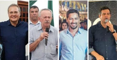 Resultado de nova pesquisa ao Senado mostra liderança de Rodrigo Cunha com 44%, Renan Calheiros com 30 %, Maurício Quintella com 17%  e  Benedito de Lira  com 16%