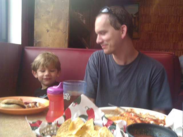 having lunch with daddy