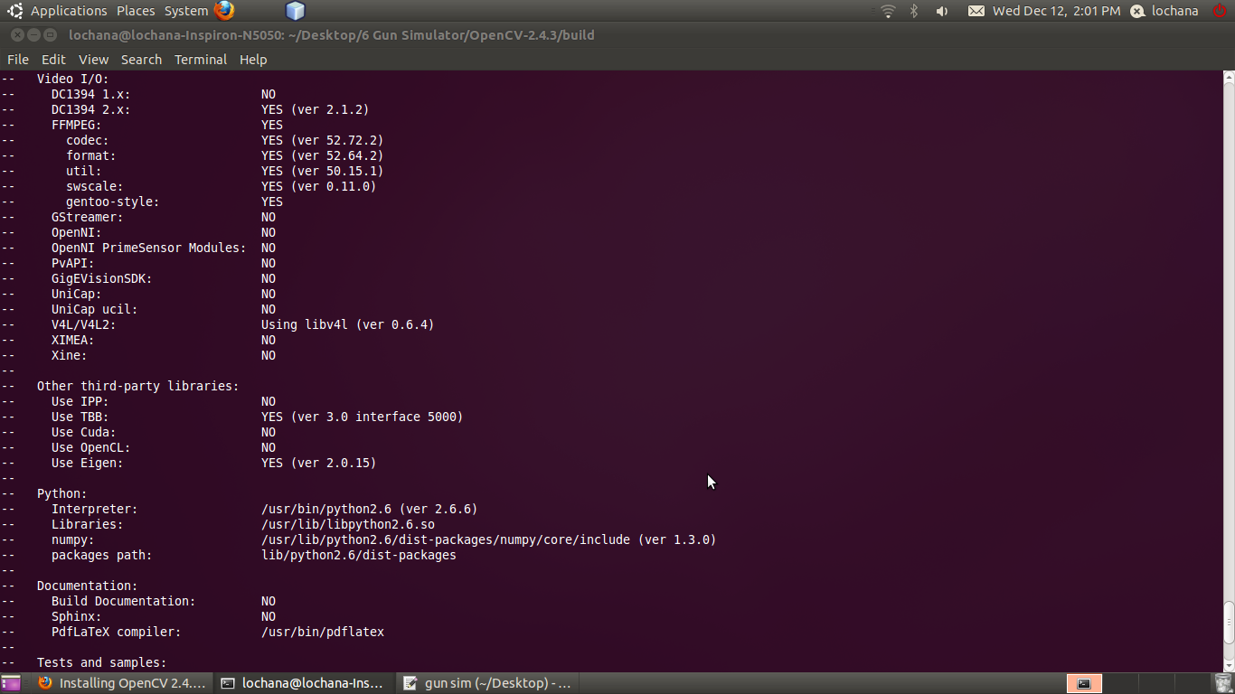 The Fingerprint in LINUX: Install Opencv 2 4 3 in Ubantu