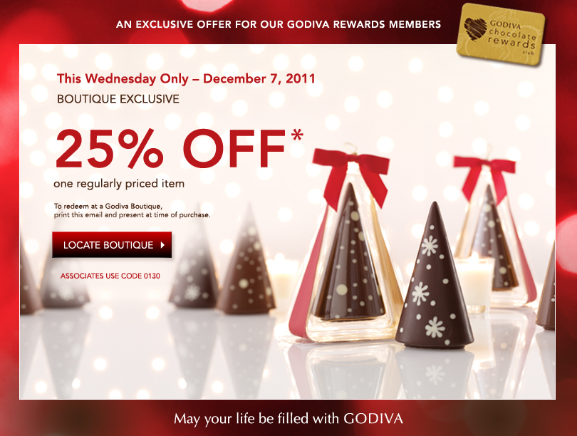 Click here if you are planning on any online or in-store weekend shopping at Godiva and get every code, deal, and discount. Time to save! This coupon expired on 09/30/ CDT.5/5(10).