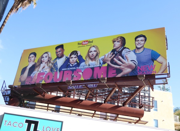 Foursome season 2 YouTube Red billboard