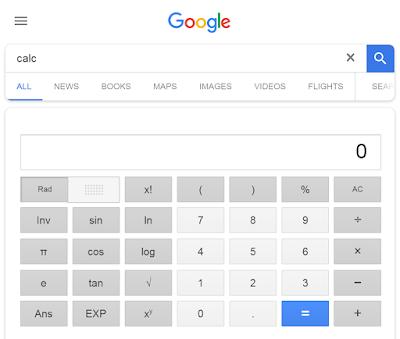 Google Calculator.