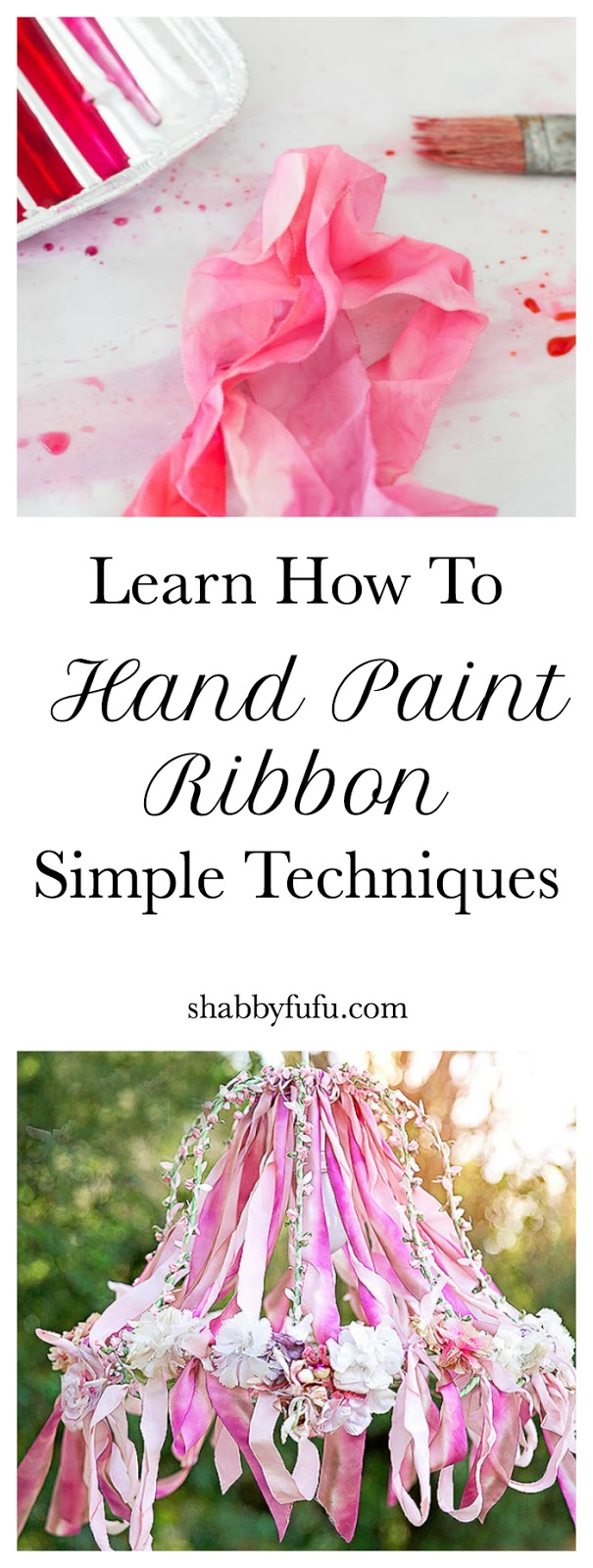 Learn How To Hand Paint Ribbon - Simple Techniques
