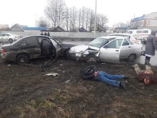 Автоворы из Башкирии удирая от полиции устроили ДТП в городе Цивильск
