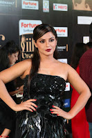 Glamorous Actress Neetu Chandra in Black dress at IIFA Utsavam Awards 2017  HD Exclusive Pics 28.JPG