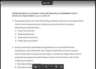 Prediksi Soal UTN PLPG 2017 SD dan Kunci Jawaban