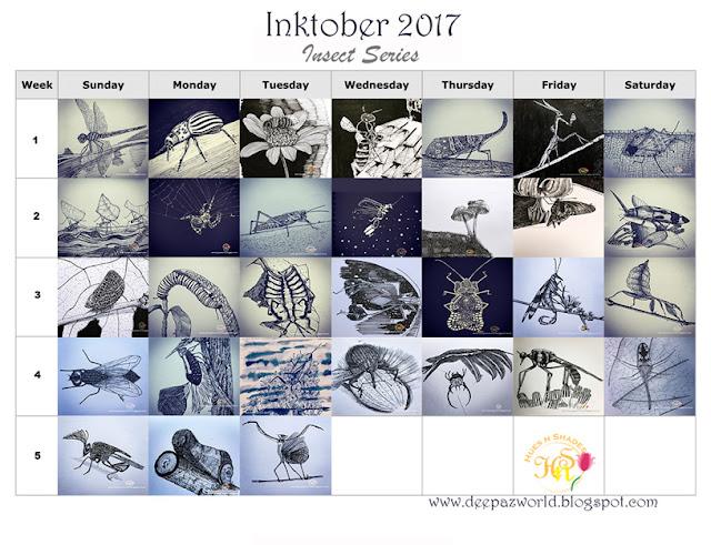 Inktober2017-InsectSeries-Calendar-HuesnShades