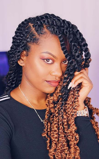 Do you search for a trendy new braids hairstyle that will make you look attractive ✘ 66 Unique Passion Twists Hairstyles Ponytails 2020 For Black Girls