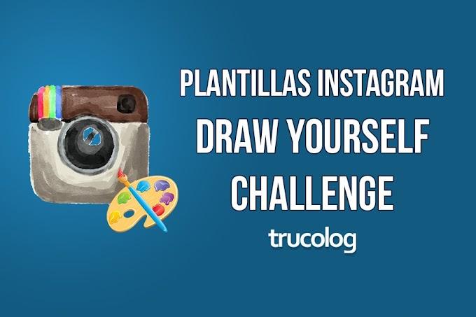 Plantilla Draw Yourself para Instagram Stories gratis