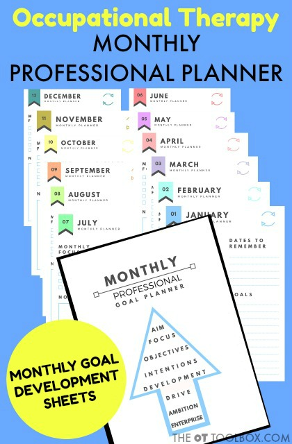 Occupational Therapy Monthly Professional Goal Planner