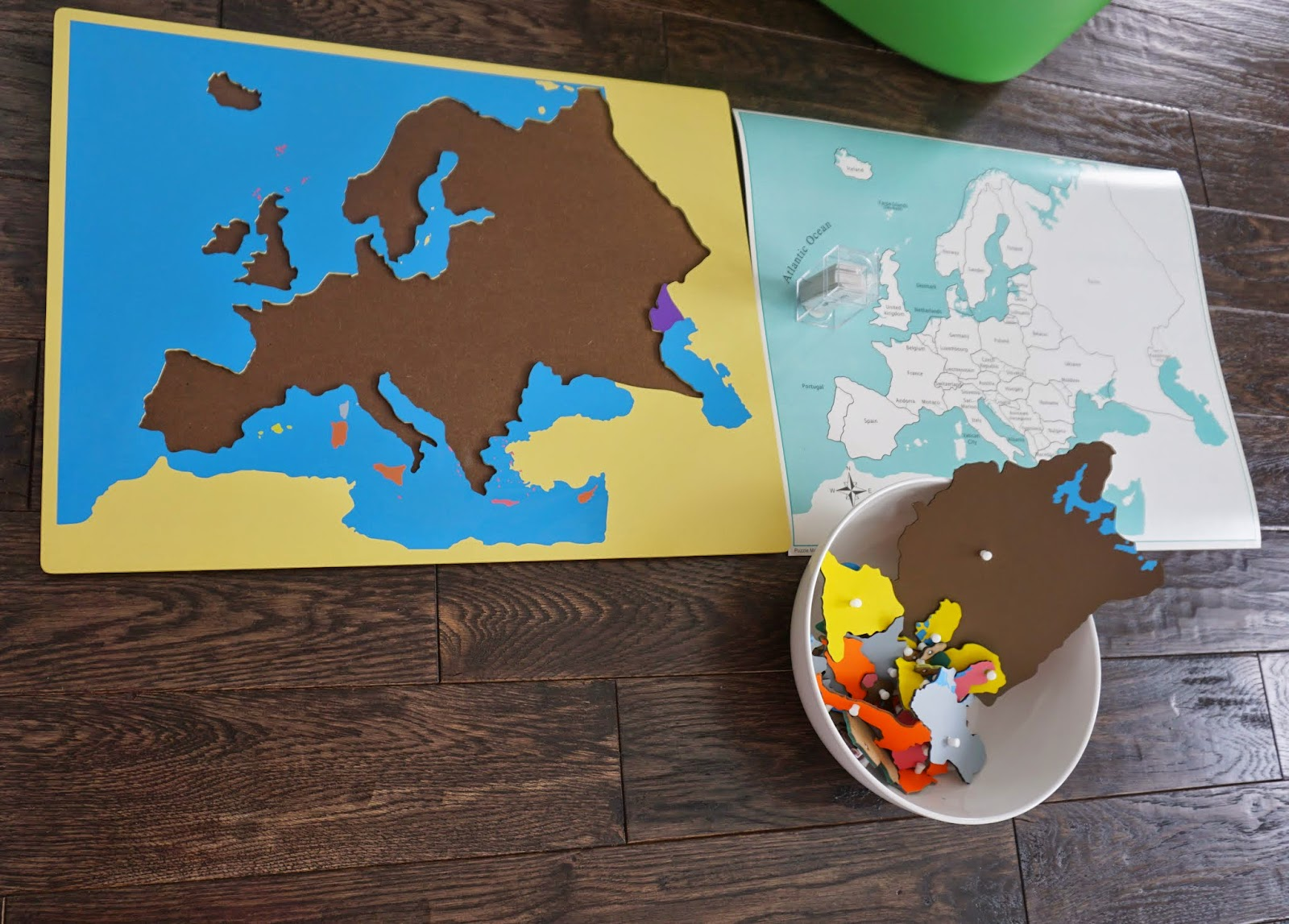 Montessori continent box making europe making montessori ours montessori puzzle map of europe with control maps gumiabroncs Image collections