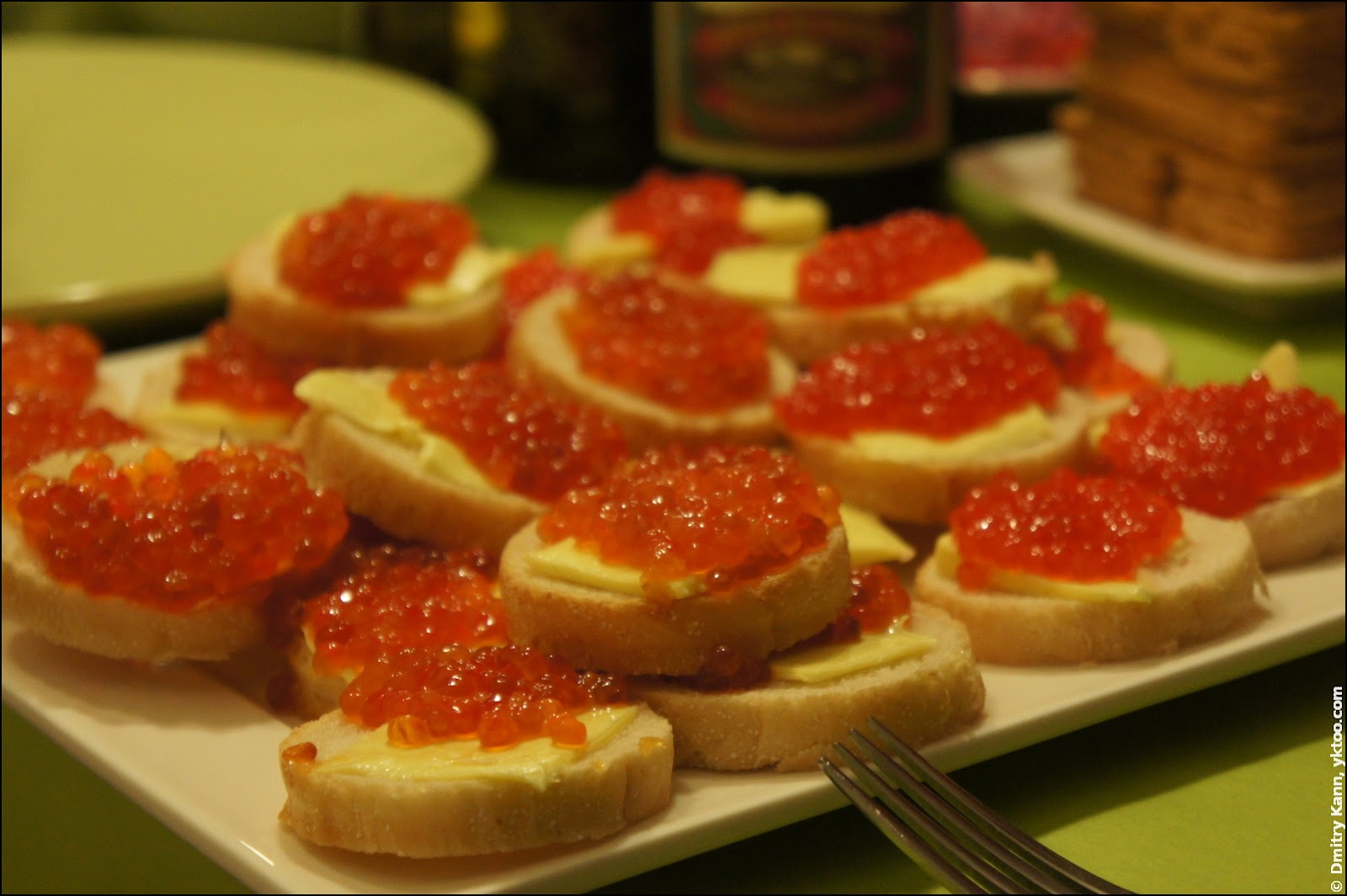 Red caviar is a typical Russian delight.