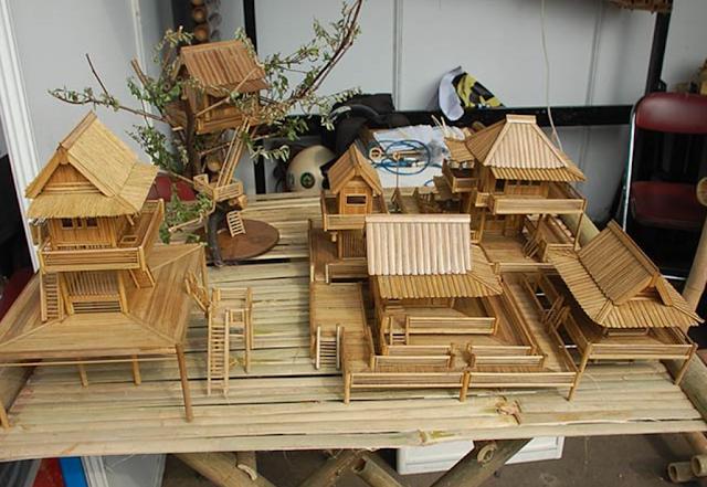 Peluang Bisnis Miniatur Dari Bahan Bambu dan Stik Es Krim