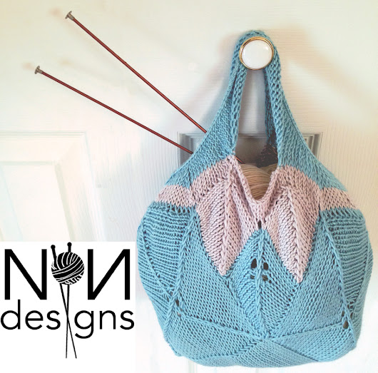 0 Knited Miter Square Challenge... A New Knit Handbag!