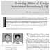 Published paper at SCMS journal of Indian management about Effects of Foreign Institutional Investment in BSE