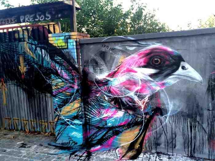 Бразильский уличный художник. Frenetic Spray - L7m (стрит-арт)