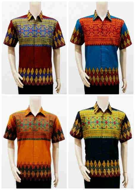 Baju Batik Modern Motif Tenun Rang Rang