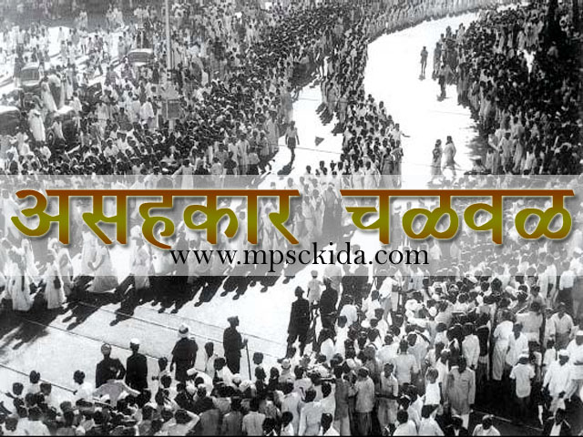 Non cooperation movement information in marathi
