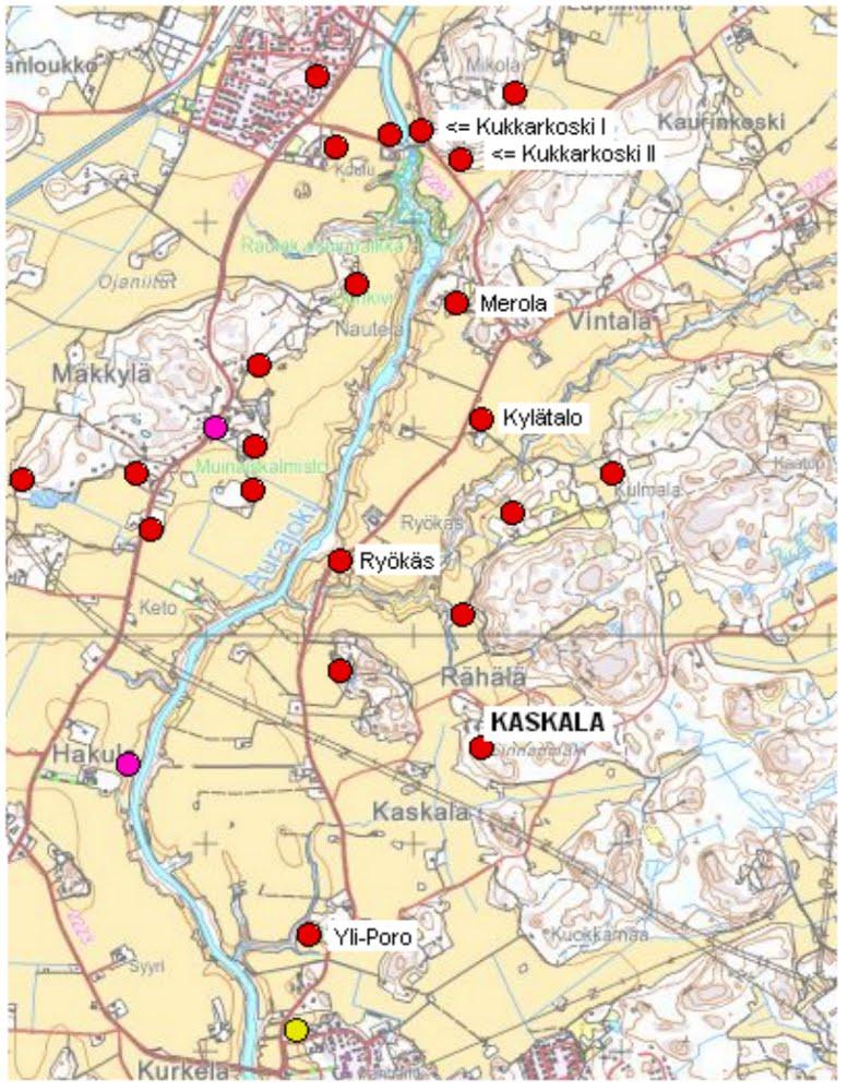 Muinaisjäännösrekisteri Kartta