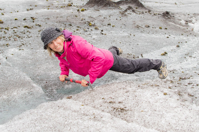 Io sul ghiacciaio Falljökull