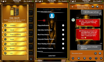 BBM Mod Black Gold Angelic Base Transparan 3.1.0.13 Apk