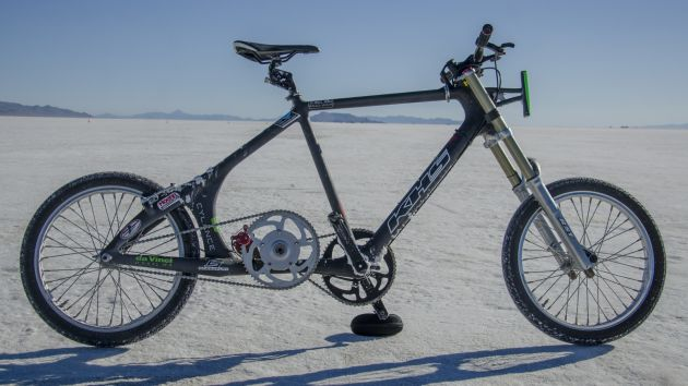 5e6204c77e4 fellow San Diego cyclist Denise Mueller recently set a new woman's bicycle  land speed record of 147 mph at the Bonneville Salt Flats in Utah.