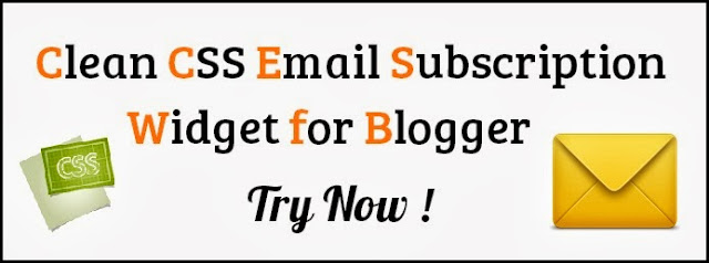 Clean CSS Email Subscription Widget for Blogger