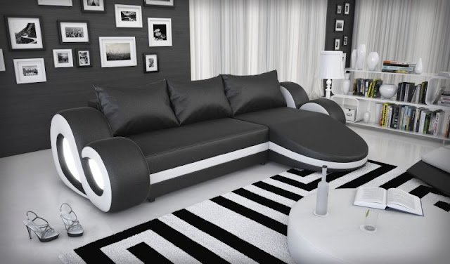 Awesome Black Leather Living Room Furniture Sets
