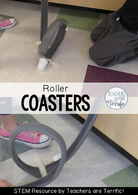 STEM Challenge- our favorite project is all about roller coasters! This is a kid requested challenge that we repeat every year and sometimes more than once!