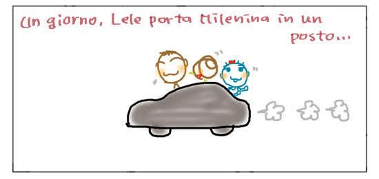 Un giorno, Lele porta Milenina in un posto...