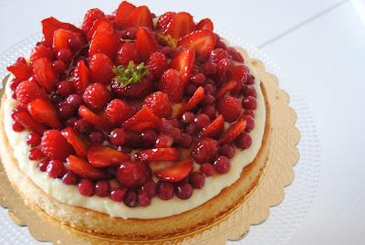 crostata crema e frutta fresca (da una ricetta di I. Massari)