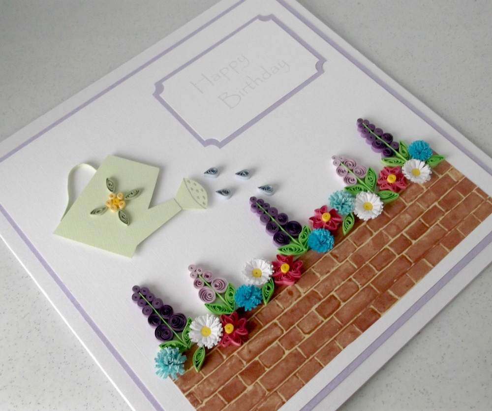 paper daisy cards quilled birthday card