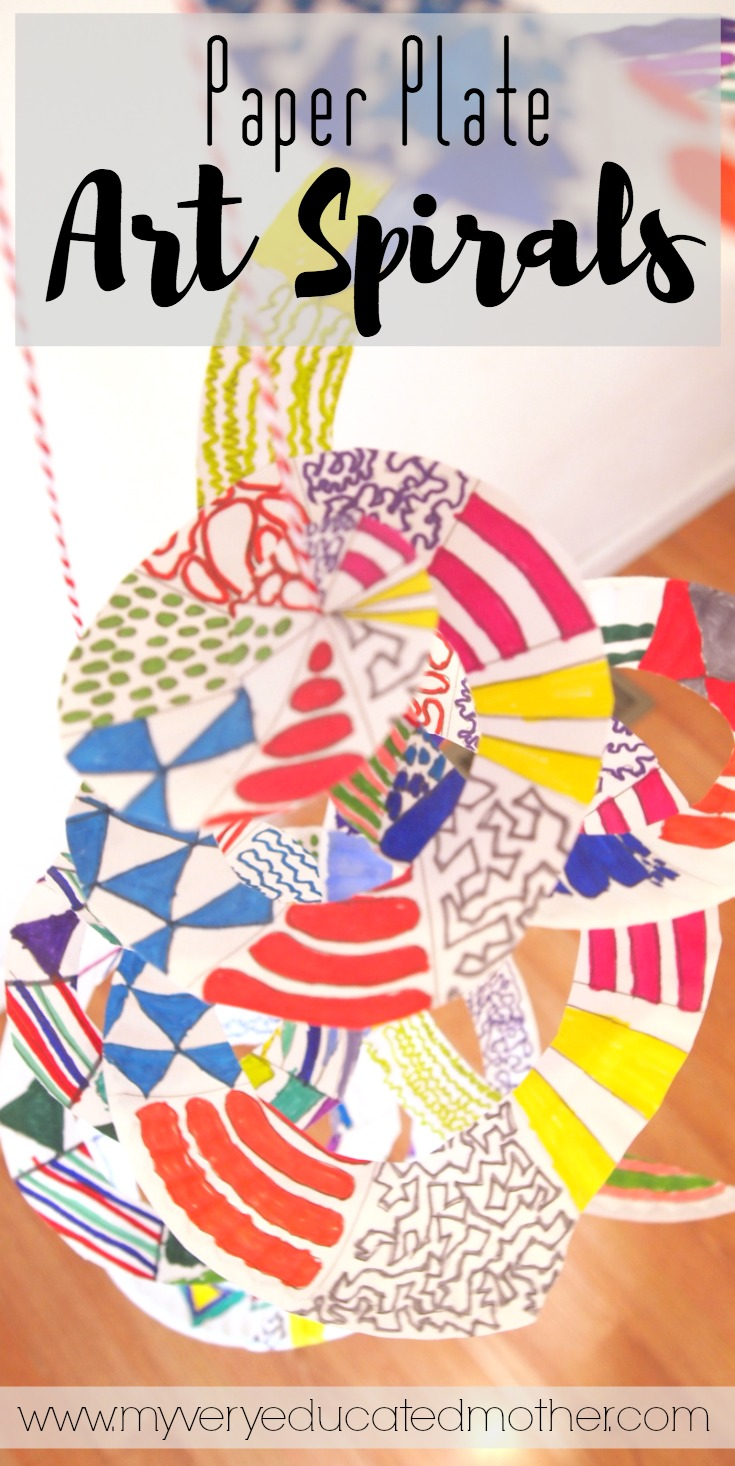 Quick Kids Craft Art Spirals