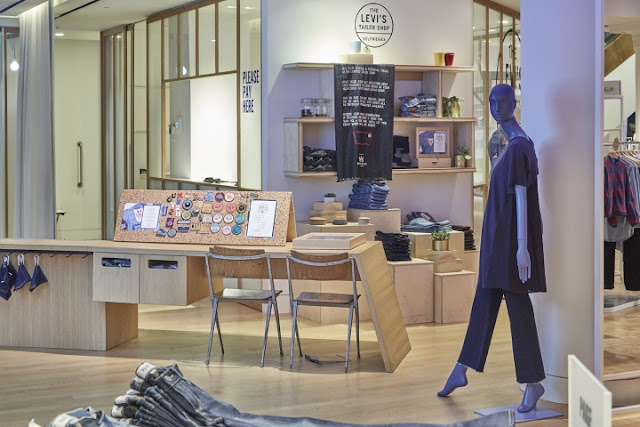 Green Pear Diaries, retail, pop up store, Levi's pop up Tailor Shop Workshop, Selfridges, Londres