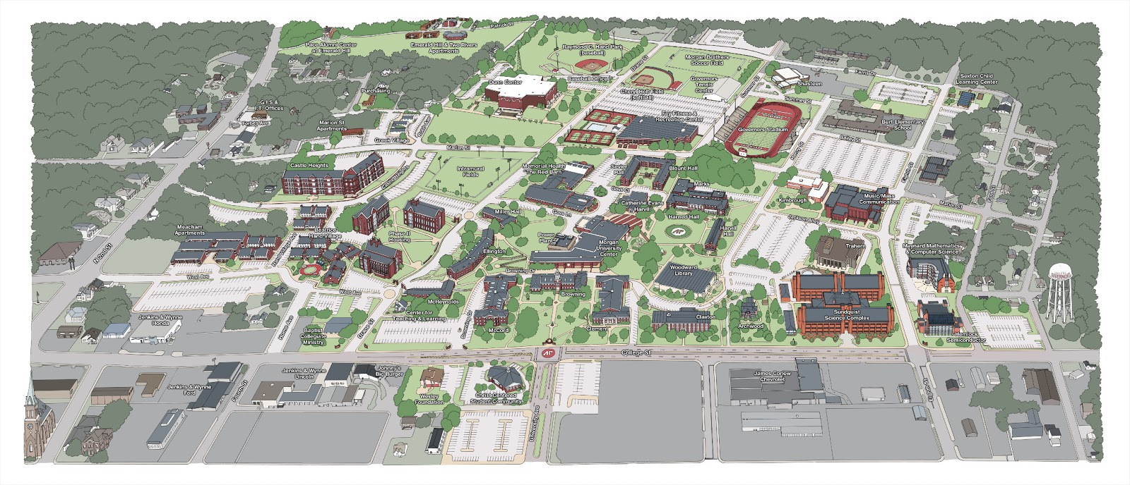 St Catherine University Campus Map.2012 Apsu Campus Map Holly Carden Illustrator