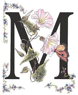 Letras con Flores y Mariposas. Flowers and Butterflies Letters.