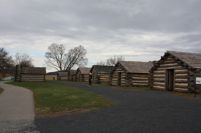 Log barracks at Valley Forge